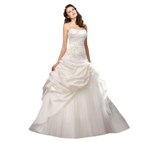 Linie Schleppe Dearta Ausschnitt Brautkleider A Kleidungen Prinzessin Hof Satin Damen Elfenbein Herz tqw8rZtx