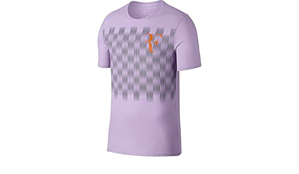 b24f67892 Amazon.com : NikeCourt RF Men's T-Shirt (X-Large, Violet Mist/Cool Grey) :  Sports & Outdoors