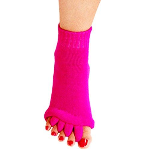 1 Pair Yoga GYM Massage Five Toe Separator Socks Foot