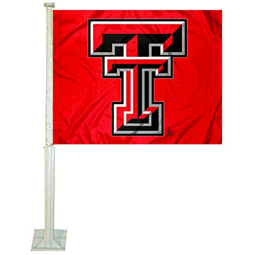 College Flags and Banners Co. Texas Tech Red Raiders Red Car Flag