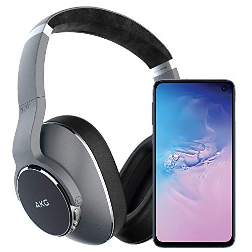 Samsung Galaxy S10e Factory Unlocked Phone with 256GB (U.S. Warranty), Prism Blue w/AKG N700NC Headphones