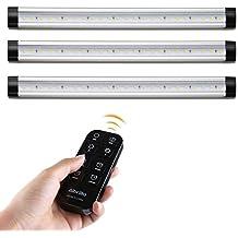 Albrillo LED Under Counter Lighting, Remote Control with Timer, Kitchen Under Cabinet Lighting, Under Shelf Light, 900 Lumen, Soft White 3000K, 3 Pack