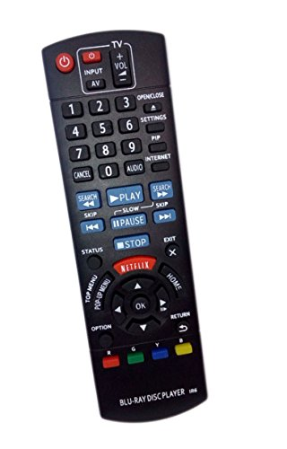 Price comparison product image Replaced Remote Control Compatible for Panasonic DMP-BD79P-K N2QAYB000952 DMP-BDT230 DMPBD901 Blu-Ray DVD Disc Player