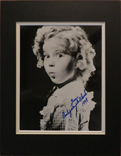 shirley-temple-black-famous-child-actress-autographed-matted-black-white-photo