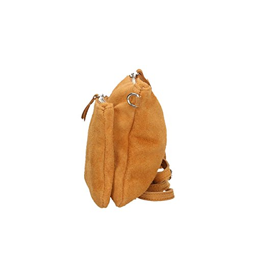 Chicca Borse Bolso de hombro de Piel genuina 24 x 17 x 4 Cm cuero