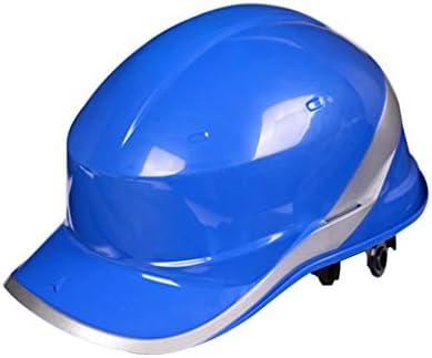 LCSHAN ABSヘルメット構造安全ヘルメット強化耐衝撃性 (Color : Blue)