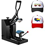 Superland 7x3.75 Inch Hat Press Heat Press Machine with Digital LCD Timer Hat Cap Sublimation Digital Clamshell Cap Press Machine (CP2815-S Hat Press)