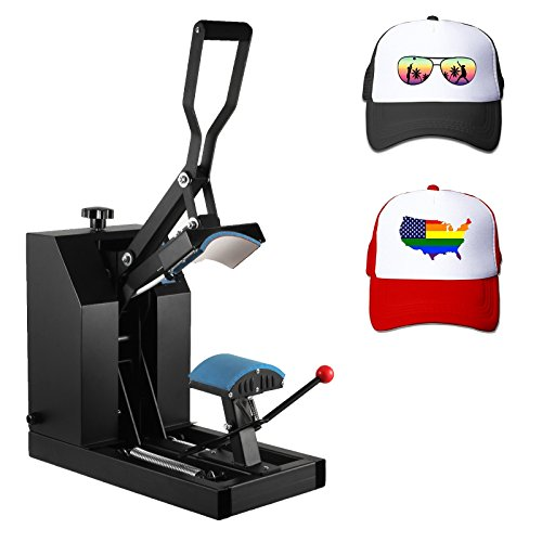 Superland 7x3.75 Inch Hat Press Heat Press Machine with Digital LCD Timer Hat Cap Sublimation Digital Clamshell Cap Press Machine (CP2815-S Hat Press) by Superland