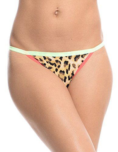 Women's Cheetah Print Thong Camel (XL)
