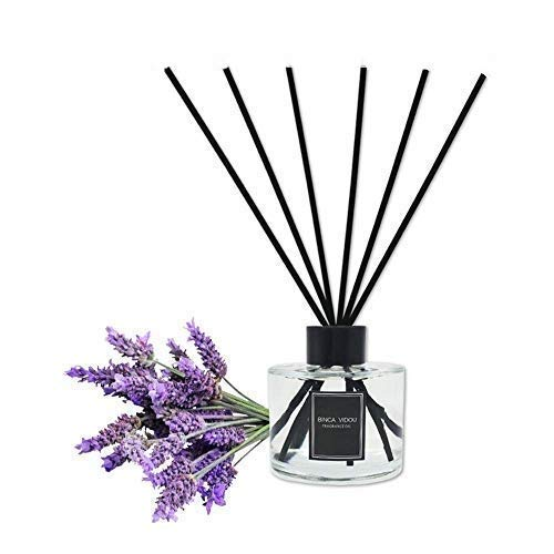 Bedroom Rattan Set Bedroom - Binca Vidou Reed Diffuser Set Lavender Reed Oil Diffusers for Bedroom Living Room Office Aromatherapy Oil for Gift Idea & Stress Relief 120 ml/4.09 oz