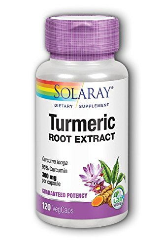 Solaray Guaranteed Potency Turmeric Root Extract 300 mg VCapsules, 120 Count ()