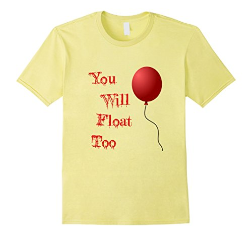 Do It Yourself Halloween Costumes Men (Mens IT is Halloween Costume Red Balloon You'll Float Too T Shirt Small Lemon)