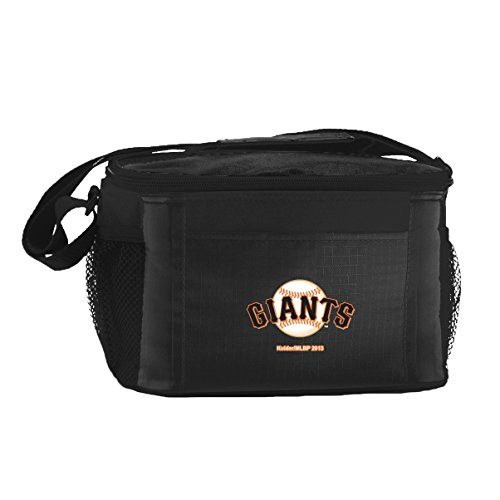 Kolder San Francisco Giants Black 6 Pack Cooler Bag - Insulated Lunch Box or Tote