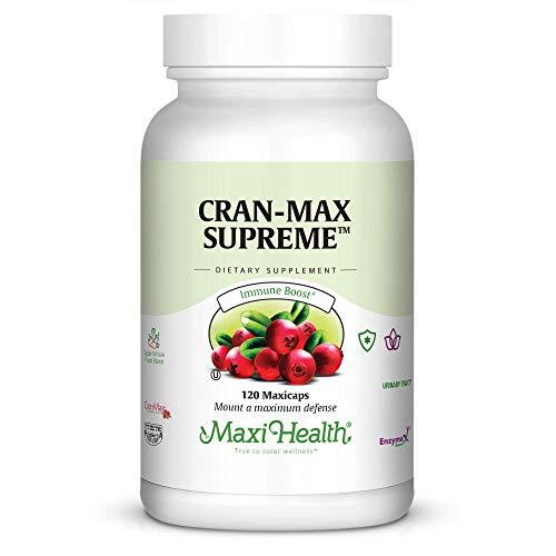 Maxi Health CranMax Supreme Urinary Tract and Immune Boost Capsules, 120 Count