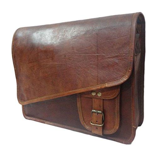 Neue echtes Leder Laptop Braun Tasche Schulter Kreuz Körper Flap Messenger Bag