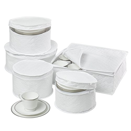 (Honey-Can-Do SFT-01630 Dinnerware Storage Set, 5-Piece)