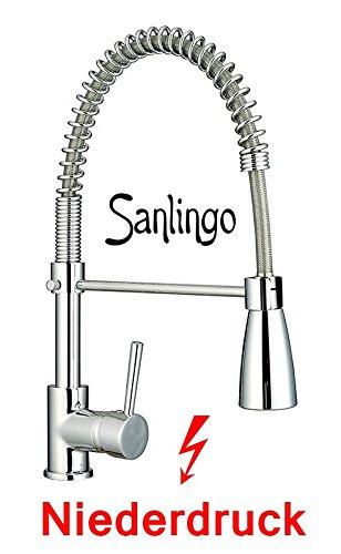 Niederdruck Gastro Spültisch Profi Küchenarmatur mit 2 Strahlarten von Sanlingo