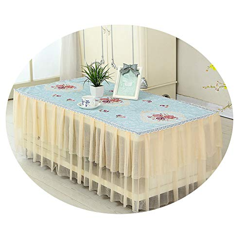 NDJqer Lace Tablecloth for Living Room 1 Piece Tea Table Cloth Cover Embroidered Dining Tablecloths Wedding Party Decor Fugui Huayuan About 140X80X40Cm