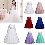 Opeof Children Kids Gown Formal Dress Wedding Young Flower Girl Long Princess Costume
