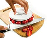 Rapid Slicer, Food Cutter, Slice Tomatoes, Grapes, Olives, Chicken, Shrimp, Strawberries, Salads. Non-Slip Gadget Holder for Slicing All Different Foods Easily