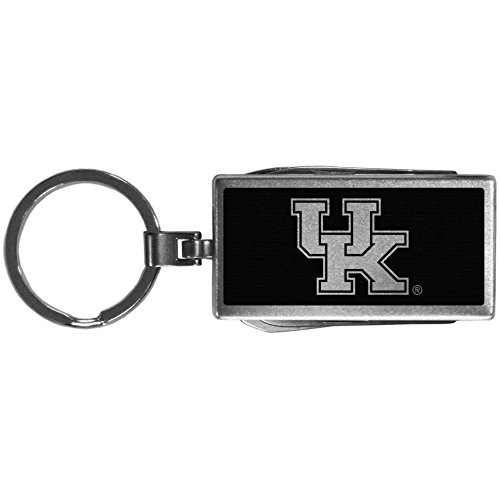 Siskiyou Sports NCAA Kentucky Wildcats Multi-Tool Key Chain, (Black Enameled Cat)