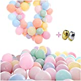 """100Pcs Macaron Latex Candy Assorted Balloons Bulk, 10"""" Pastel Party Balloons For Wedding,Graduation, Kids' Birthday And Baby Shower Decor, Free With 65Ft Ribbon."""