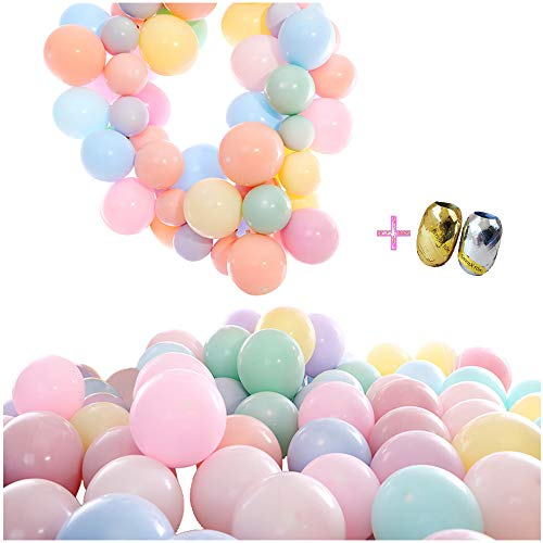 100Pcs Macaron Latex Candy Assorted Balloons Bulk, 10