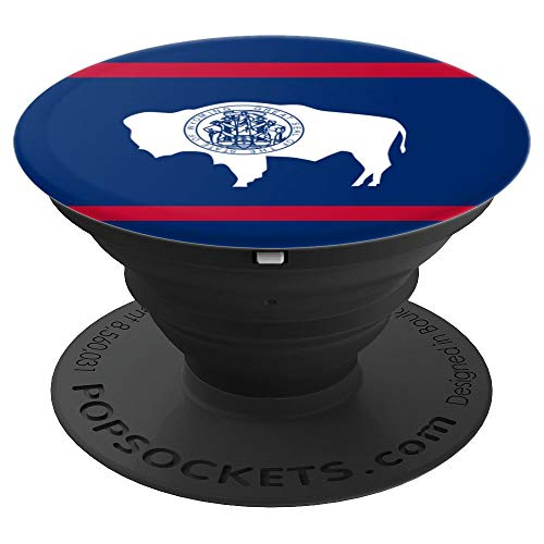- Flag Seal of Wyoming Cowboy State Collapsible Pop Out - PopSockets Grip and Stand for Phones and Tablets