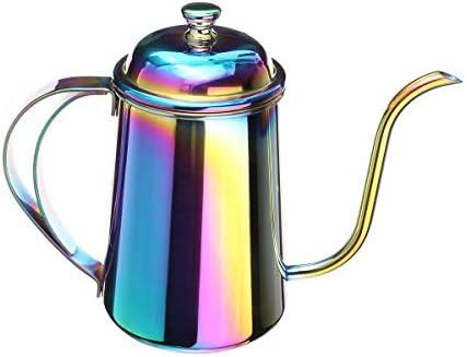 金属の多彩なステンレス鋼のコーヒードリップのやかん650 MLの茶鍋