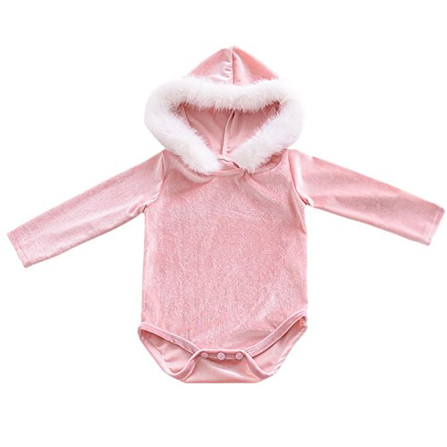 Easy Halloween Costumes Ideas For Teenage Girls (Infant Baby Girls Christmas Santa Costume Long Sleeve One Piece Velvet Bodysuit Winter Fur Hooded Jumpsuit Romper Outfit Sweaters Dress)