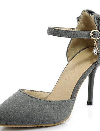 GGX/ Damen-High Heels-Lässig / Party & Festivität / Kleid-PU-Stöckelabsatz-Absätze / Spitzschuh-Schwarz / Rot / Grau gray-us5.5 / eu36 / uk3.5 / cn35