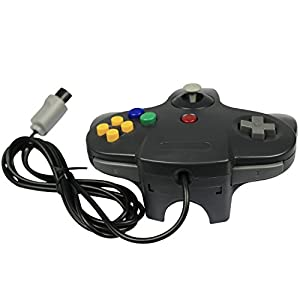 Pomilan 1 Pack Classic Retro Wired Controller For N64 (Black)