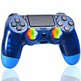 YU33 Clear Blue Wireless Controller Compatible with