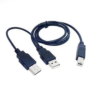 QAZSE - Cable Doble USB 2.0 Macho a B Macho estándar Y de 80 ...