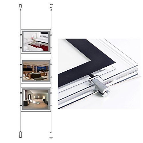 Crystal Landscape Led Poster Frame Real Estate Window Ceiling Hanging Sign (Estate Window Box)