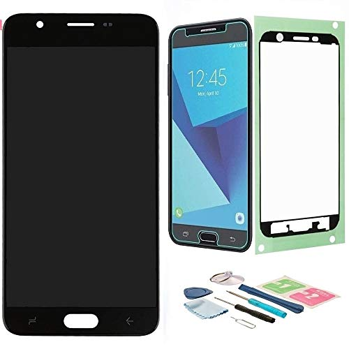 XR MARKET Compatible Samsung Galaxy J737 Screen Replacement, LCD Display Touch Screen Digitizer Assembly Part for J7 2018/J7 Refine J737P/J7 V J737V/J7 Star J737T, with Tools, Screen Protector(Black)