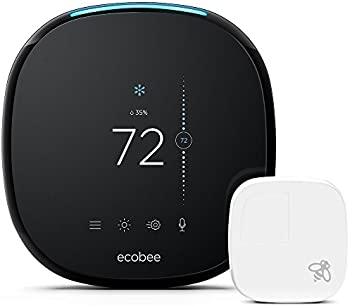 ecobee4 Voice-Enabled Smart WiFi Thermostat with Room Sensor