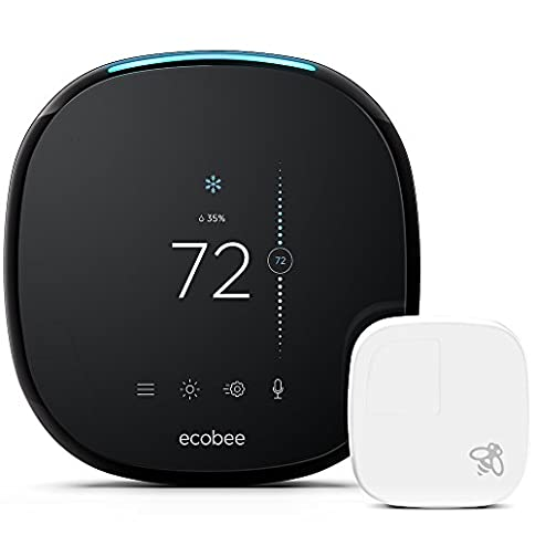 ecobee4 Smart Thermostat with Built-In Alexa, Room Sensor Included - 419xitDxyRL - ecobee4 Smart Thermostat with Built-In Alexa, Room Sensor Included
