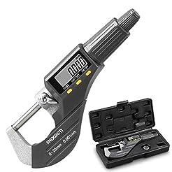 Digital Micrometer, Professional Inch/Me...