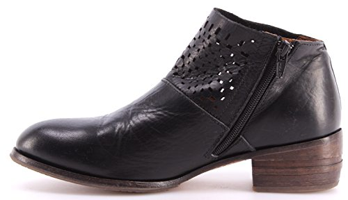 Zapatos Mujer Botines MOMA Ankle Boots 32703-TA Toscana Nero Negro Vintage Italy