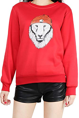 Sweatshirt Casual Imprimé Femme Sweatshirts Rouge Pull Animal wAX4wnPq