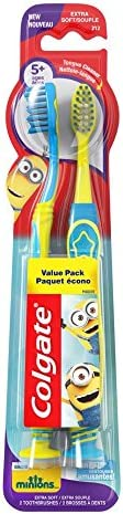 Colgate Kids Extra Soft Toothbrush with Suction Cup, Minions, 2 Count