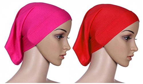 faae1d3155d4 Fortuning s JDS 2pcs Islamic lightweight under scarf tube bonnet cap under  scarves inner hijab caps for women