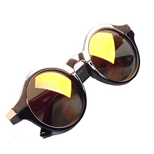 Unisex Retro Circle Round Metal Nose Bridge Mirror Lens Sunglasses - Sunglass Hut Does Lenses Prescription Do