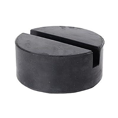 GZYF 75mm Slotted Frame Rail Rubber Hydraulic Floor Jack pad Standard Jack Pad Black