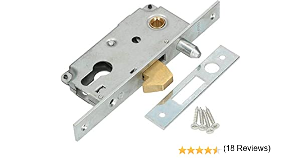 KOTARBAU® - Cerradura de gancho para puerta corredera 72/40 mandril de guía para puerta corredera, cierre de ganchos ...