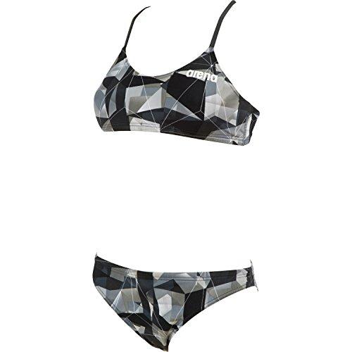 (Arena Women's Polyatomic Two Piece, Navy/Navy, Size 28)