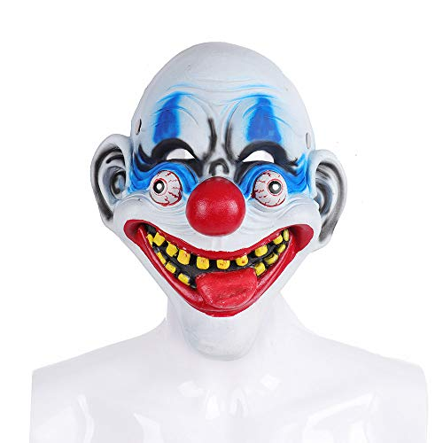 Carnival Party Joker Masquerade Cosplay Full Face Scary PU Foam Clown Halloween Mask