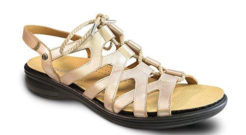 Vördar Malibu Kvinna Komfort Sko Med Löstagbar Fot Säng Läder Spets-up Champagne