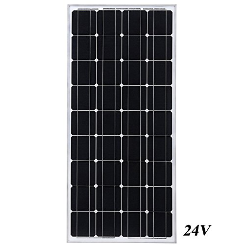 DIY Installation 24V 100W Monocrystal solar panels of small wind & solar power generating station, motor homes electric power supply, RV, Camping